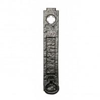 Antique Black Iron Postal Letter Flap / Letter Plate With Knocker
