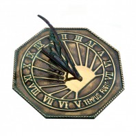 Antique Brass 'Copernicus' Sundial - 250mm