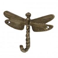 Antique Brass Dragonfly Wall Hook