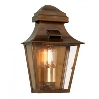 """Westernbrook"" Traditional Brass Half Wall Lantern"