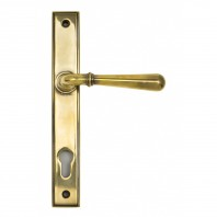 """Emerson"" Antique Brass Slim Line Door Handle"