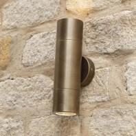 Antique Brass Spotlight Cylinder Wall Light