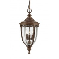 """The Ruxton"" Antique Bronze Countryside Hanging Light"