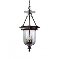 """Wresthill Hall"" Antique Bronze Glass Dome Candle Ceiling Light"