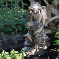 Antique Bronze Woodland Fairy Sculpture