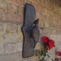 Antique Bronze Woodpecker Wall Art