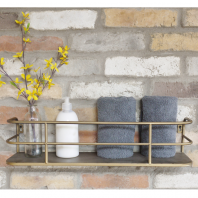 Antique Gold Industrial Style Shelf