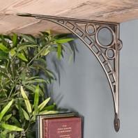 """Ironbridge"" Antique Nickel Shelf Bracket - 33 x 33cm"