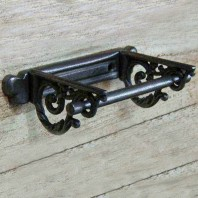 Antique Scrolled Iron Toilet Roll Holder
