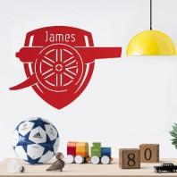 'Arsenal Cannon' Personalised Wall Art- Red