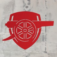 "Red ""Arsenal Cannon"" Wall Art"