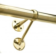 """Classic Twin Stem"" Brass handrail bracket"