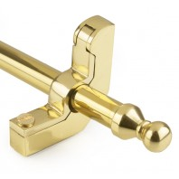 Polished Brass Stair Rods in with Ball Finial - 9mm