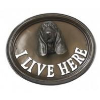 House Sign - Basset Hound - I Live Here