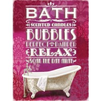 Bath and Bubbles Retro Metal Sign