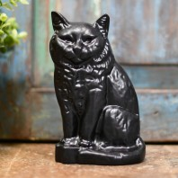 "Black ""Persian"" Cat Door Stop"