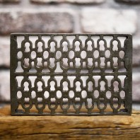 "Antique Cast Iron Air Brick - 9"" x 6"""