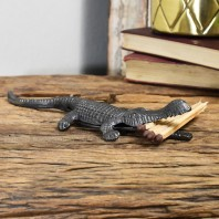 Cast Iron Alligator Match Holder