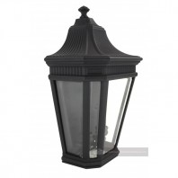 """Wychester Estate"" Half Wall Lantern-Midnight Black"