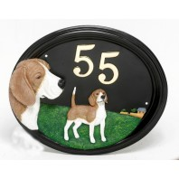 House Sign - Hand Painted - Beagle