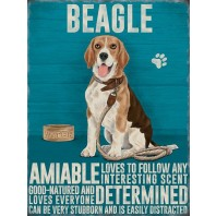 The Beagle Lovers Metal Sign