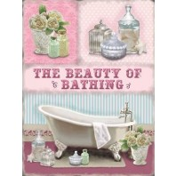 Beauty of Bathing Metal Sign