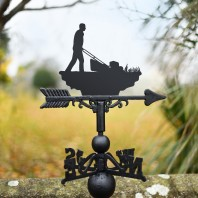 Mowing The Lawn Cast Iron Weathervane