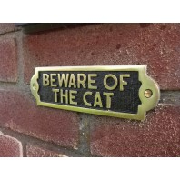 Be Aware of the cat - Gate sign