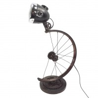 Bicycle Wheel Table Lamp