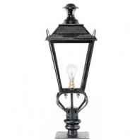 Black Dorchester Pillar Light and Lantern Set 71cm