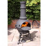 Black Cast Iron Chimenea - 115cm