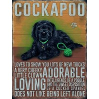 Classic Cockapoo Dog Metal Sign