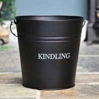 Black Contemporary Kindling Bucket