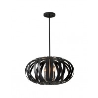 """Halmain House"" Black Contemporary Chandelier"