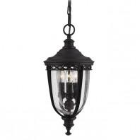 """Winsford"" Black English Manor Hanging Porch Light"