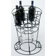 'Lynelle' Floor Standing Wine & Glass Rack