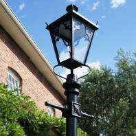 Black Gothic Extra Large Lantern & Lamp Post Set - 4.6m