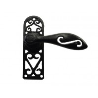 """Mentmoore"" Scrolled Black Iron Lever Handle"