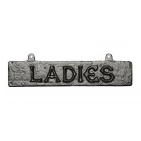 """Alderton"" Black Iron Ladies Toilet Sign"