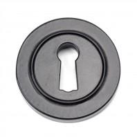 Black Iron Round Escutcheon