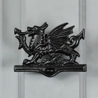 Black Iron Welsh Dragon Door Knocker