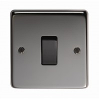 Black Nickle 10 Amp Single Light Switch