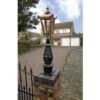 """Crown Riversham"" Small Copper Victorian Patio Lamp Post"