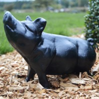 Black Standing Pig Ornament
