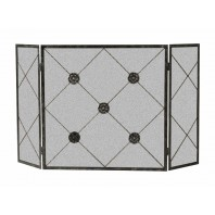 Black Three Fold Rosette Fire Guard