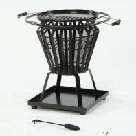 Black Traditional Fire Basket & Grill