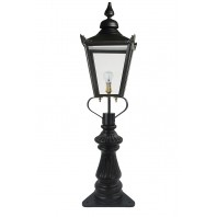 Black Victorian Fluted Patio & Driveway Light 103cm