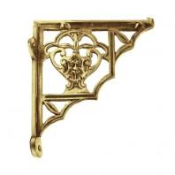 """""""Blossville"""" brass wall brackets 19 x 16cm"""