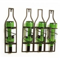 Bottle Shaped Wall Mounted Wine Bottle Holder