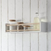 Wooden Wall Shelf & Bottle Holder by Garden Trading